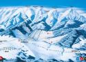 Ski areál Ždiar - Strednica  - mapa areálu
